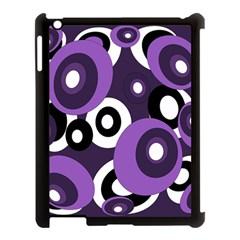 Purple pattern Apple iPad 3/4 Case (Black)