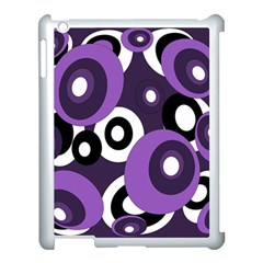 Purple pattern Apple iPad 3/4 Case (White)