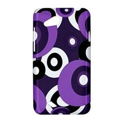 Purple pattern HTC Desire VC (T328D) Hardshell Case