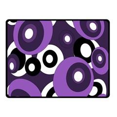 Purple pattern Double Sided Fleece Blanket (Small)