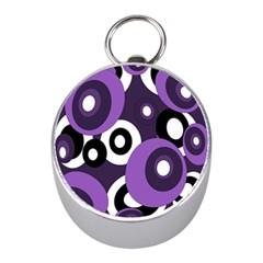 Purple pattern Mini Silver Compasses