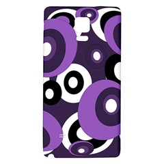 Purple pattern Galaxy Note 4 Back Case
