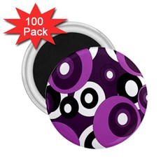 Purple pattern 2.25  Magnets (100 pack)