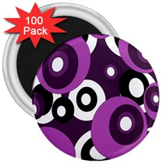 Purple pattern 3  Magnets (100 pack)