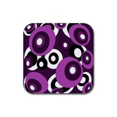 Purple pattern Rubber Coaster (Square)
