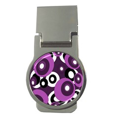 Purple pattern Money Clips (Round)