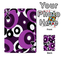 Purple pattern Playing Cards 54 Designs