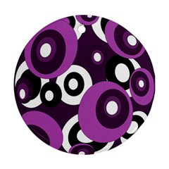 Purple pattern Round Ornament (Two Sides)