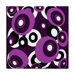 Purple pattern Face Towel