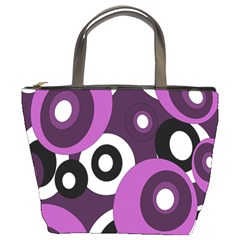 Purple pattern Bucket Bags