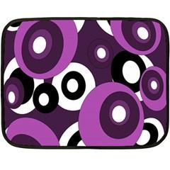 Purple pattern Fleece Blanket (Mini)