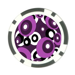 Purple pattern Poker Chip Card Guards (10 pack)