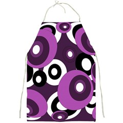 Purple pattern Full Print Aprons