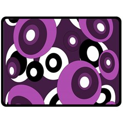 Purple pattern Fleece Blanket (Large)