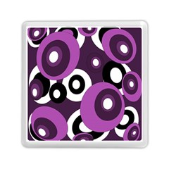 Purple pattern Memory Card Reader (Square)
