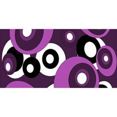 Purple pattern YOU ARE INVITED 3D Greeting Card (8x4)