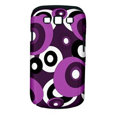 Purple pattern Samsung Galaxy S III Classic Hardshell Case (PC+Silicone)