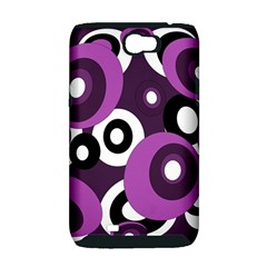 Purple pattern Samsung Galaxy Note 2 Hardshell Case (PC+Silicone)