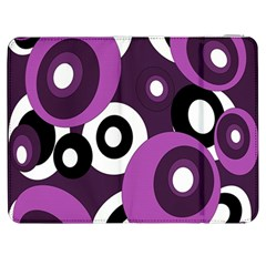 Purple pattern Samsung Galaxy Tab 7  P1000 Flip Case