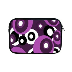 Purple pattern Apple iPad Mini Zipper Cases