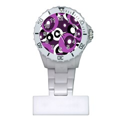 Purple pattern Plastic Nurses Watch