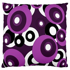 Purple pattern Large Flano Cushion Case (Two Sides)