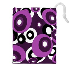 Purple Pattern Drawstring Pouches (xxl)