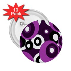 Purple pattern 2.25  Buttons (10 pack)