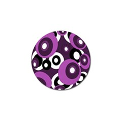 Purple pattern Golf Ball Marker (10 pack)