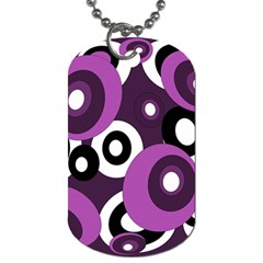 Purple pattern Dog Tag (Two Sides)