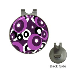 Purple pattern Hat Clips with Golf Markers