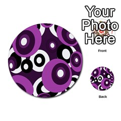 Purple pattern Multi-purpose Cards (Round)