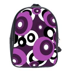 Purple pattern School Bags(Large)