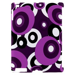 Purple pattern Apple iPad 2 Hardshell Case (Compatible with Smart Cover)