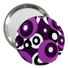 Purple pattern 3  Handbag Mirrors