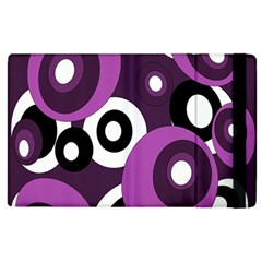 Purple pattern Apple iPad 2 Flip Case