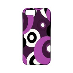Purple pattern Apple iPhone 5 Classic Hardshell Case (PC+Silicone)