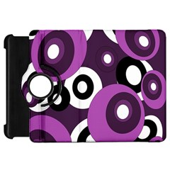 Purple pattern Kindle Fire HD Flip 360 Case