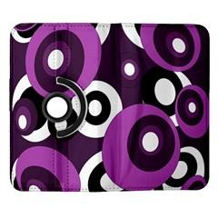 Purple pattern Samsung Galaxy Note II Flip 360 Case