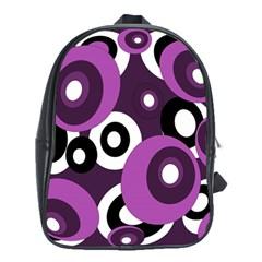 Purple pattern School Bags (XL)