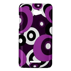 Purple pattern HTC Butterfly X920E Hardshell Case