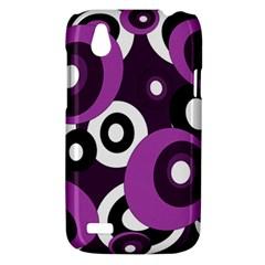 Purple pattern HTC Desire V (T328W) Hardshell Case
