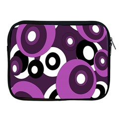 Purple pattern Apple iPad 2/3/4 Zipper Cases