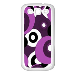 Purple pattern Samsung Galaxy S3 Back Case (White)