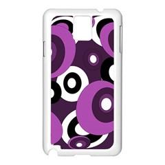 Purple pattern Samsung Galaxy Note 3 N9005 Case (White)