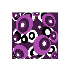 Purple pattern Satin Bandana Scarf