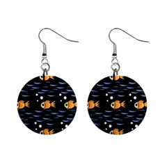 Fish pattern Mini Button Earrings