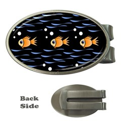Fish pattern Money Clips (Oval)