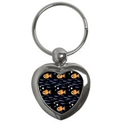 Fish pattern Key Chains (Heart)