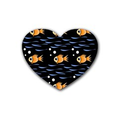 Fish pattern Rubber Coaster (Heart)